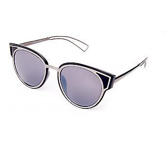 Solglasögon Unisex svart/matt silver (18-106)