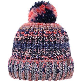 Barts Womens Jevon Chunky Knit Lined Pom Pom Winter Beanie