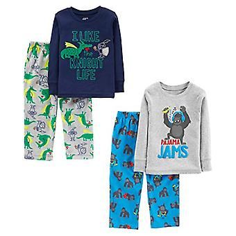 Simple Joys by Carter's Boys' Little Kid 4-Piece Pajama Set, Gorilla/Dragons, 8