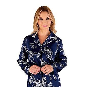 Slenderella Gaspé GL66723 Mujeres's Conjunto de Pijama Floral Azul Marino