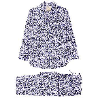 British Boxers Rosy Posy Pyjama Set - Blue/White