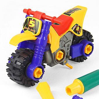 Kinder Diy Motorrad Motorrad Nüsse Modell pädagogisches Spielzeug mit Schraubendrehern