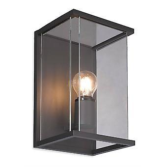 Firstlight Carlton - 1 lys udendørs væg lanterne grafit, klart glas IP54, E27