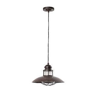 Faro Winde - 1 Licht Kuppel Deckenanhänger braun, E27