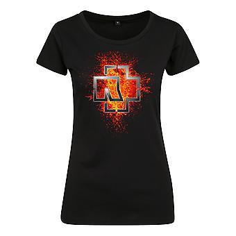 Rammstein Women's T-Shirt Ladies Lava Logo