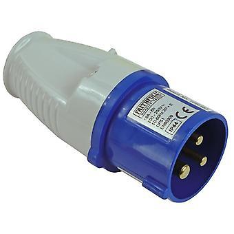 Faithfull Power Plus Blue Replacement Plug 240 Volt 16 Amp FPPPLUG16AMP