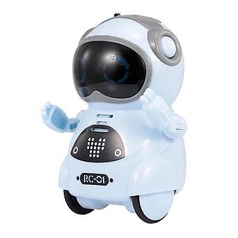 インテリジェントミニポケットロボットウォークミュージックダンス軽い音声認識キッドおもちゃ
