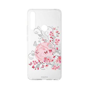 Runko Huawei P Smart Z pehmeä kukka ja perhonen
