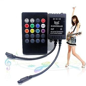 High Quality New 20 Music Keys ,ir Controller- Black Remote Sound Sensor