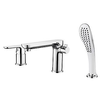 Bathtub Waterfall Faucet - Mixer Deck Mounted Tub Split Body