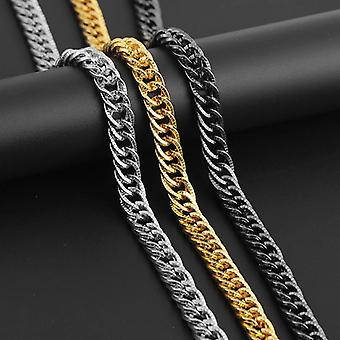 Chain in brushed gold for men hip hop luxury bracelet necklace
