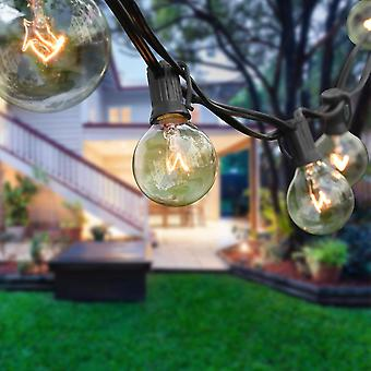 G40 Globe String Lights With 25 Clear Bulbs Hanging Indoor Christmas Lights