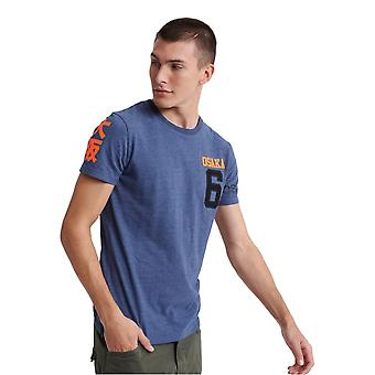 Superdry Osaka Series T-Shirt - Princedom Blue Marl