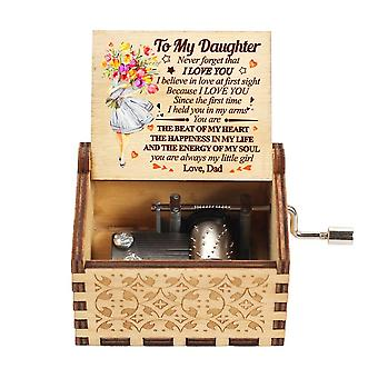 You Are My Sunshine Theme Hand Crank Wooden Music Box To Someone Special