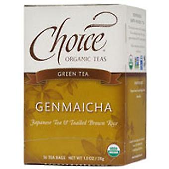 Choice Organic Teas Genmaicha Green Tea With Toasted Brown Rice, 16 BAGS