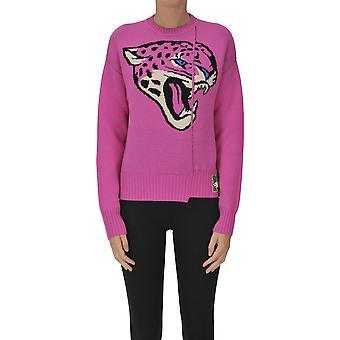 Nervure Ezgl420005 Women's Fuchsia Wool Sweater