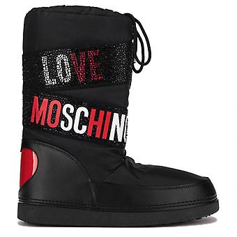 Love Moschino Snow Boot med strass