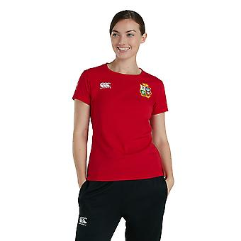 Britse en Ierse Lions Dames Katoen Jersey Top T-shirt