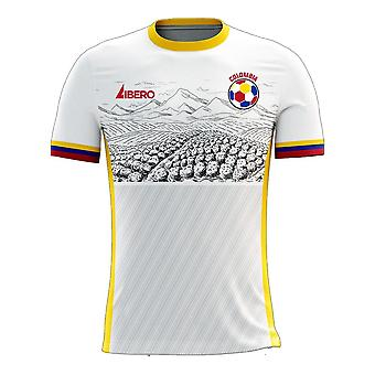 Colombia 2020-2021 Away Concept Football Kit (Libero) - Voksen langærmet