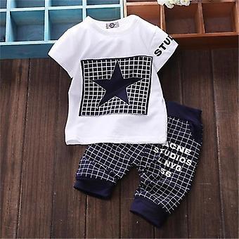 Baby Boy Sommerkleidung, T-shirt + Hose, Stern gedruckt