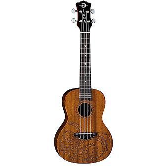 لونا الوشم الحفل الماهوجني ukulele مع gigbag