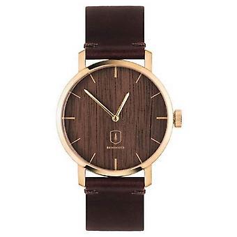 Reloj BeWooden Aurum - marrón/oro
