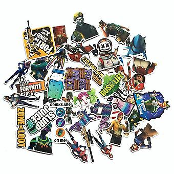 Mix Cartoon Fortnite Stickers Auto Styling Bike Motorcycle Phone Laptop Travel