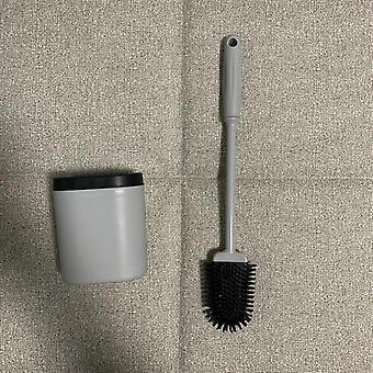 Wall Mounted Soft Silicone Bristle Brush For Toilet