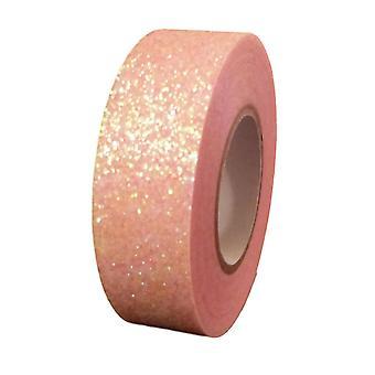 Rosa Glitter Washi Tape dekorative Maskierung selbstklebend