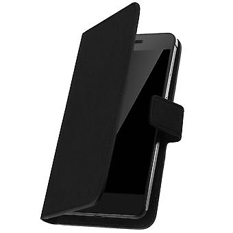 Muvit Flip wallet cover, card holder case for Smartphone size 3XL – Black