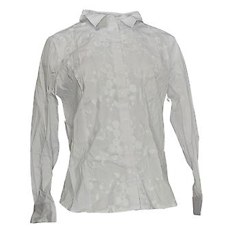 Linea by Louis Dell ' olio vrouwen ' s top shirt w/Lace stoffen wit A349644