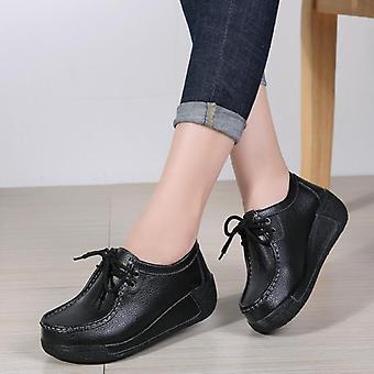 شقق مريحة المتسكعون أحذية امرأة والجلود تنفس الدانتيل متابعة أحذية رياضية