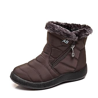 Winter Warm- Waterproof Snow, Plush Ankle Boots, Shoes