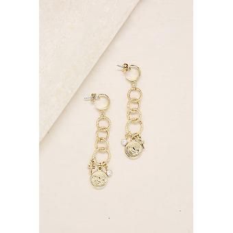 Divine Drop Earrings In Gold
