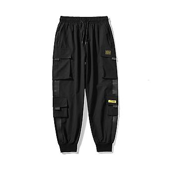 Mens Cargo Pants, Multi Pocket Harem Male Streetwear Casual Jogging Pant,
