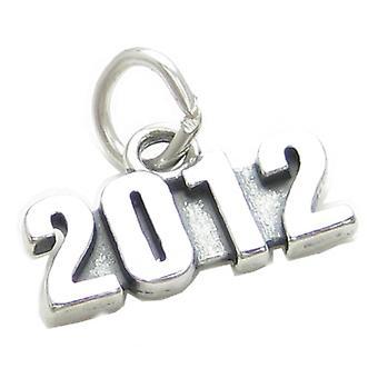 2012 Jahr Sterling Silber Charm .925 X 1 Abschluss Hochzeit Geburtstag - 4007