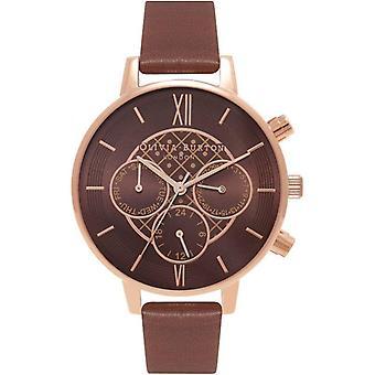 Olivia Burton OB16CG84 Chrono Detail Chocolate And Rose Gold Watch