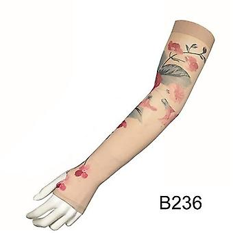 2pcs/lot Fake Tattoo Arm Sleeves Women Dragon Design Uv Protection Cooler