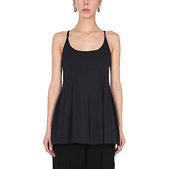 Jil Sander Jsps700061ws457408001 Women's Black Polyester Top
