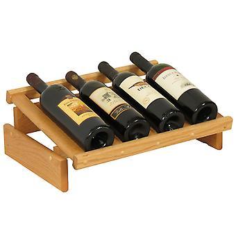Rovere di legno 4 bottiglia Dakota Wine Display, Rovere Chiaro