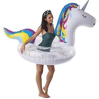 Inel de înot unicorn 100 cm mare baie trece unicorn inel Pool Beach Summer Ring