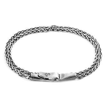 ANCHOR & CREW Staysail مزدوجة الشراع سلسلة الفضة سوار