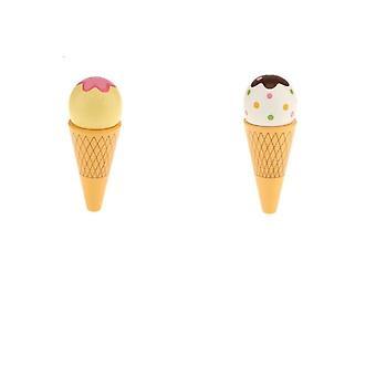 1pc tre magnet tilkoblet iskrem kjegle mat late leketøy