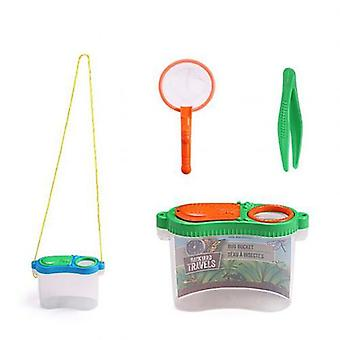 Toys For Insect Bug Viewer Boxmagnifier With Tweezers (random Color)