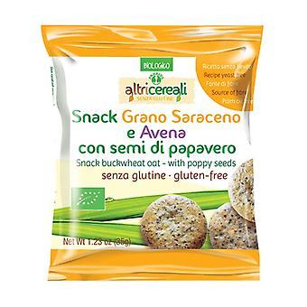 Bokhvete og havre snacks - med valmuefrø 35 g