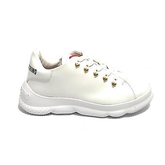 Women's Shoes Love Moschino Sneaker White Leather Ds21mo19 Ja15374