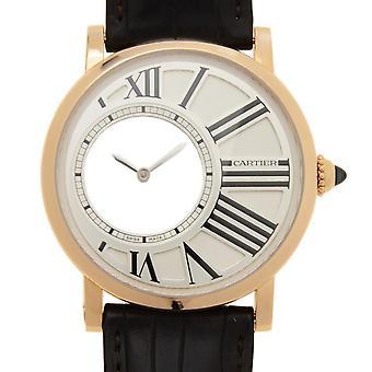 Cartier Rotonde Mystiska timmar Mekaniska 18Kt Rosa Guld Män's Klocka W1556223