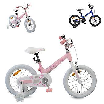 Byox barncykel 16 tum MG, stödhjul, klocka, handbroms, metallram