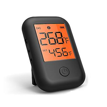 Bluetooth 5.06 Thermometer With Instant Read, Long Probe Dual Channels Outdoor Kitchen 0-300℃ Bbq Grill Monitor