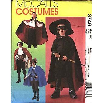 McCalls Naaipatroon 3746 Jongens Piraat Vampier Kostuums Maat 3-8